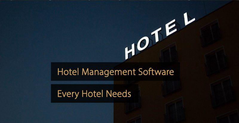 Hotel Management Software Solutions - Hotel Management Software