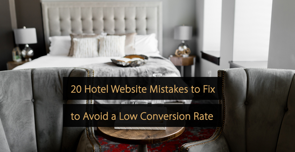 Hotel website mistakes