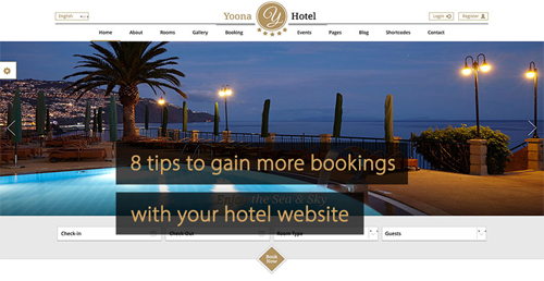 Hotel website tips - Guide revenue management and Guide hotel marketing