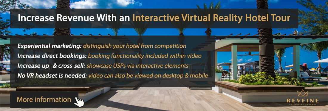 Interactive virtual reality video hotel tour
