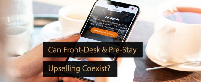 front-desk vs pre-stay upselling